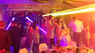 Световое шоу на свадьбе, зал