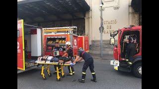 أخبار عربية وعالمية - 48 جريحا جراء تحطم قطار في مدينة برشلونة