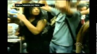Encoxando mulher   Mulher encoxada no trem