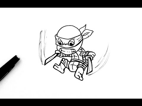 Comment Dessiner Leonardo Chibi Tortue Ninja Youtube