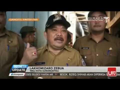 Wali Kota Gunungsitoli, Lakhomizaro Zebua sidak pasar beringin