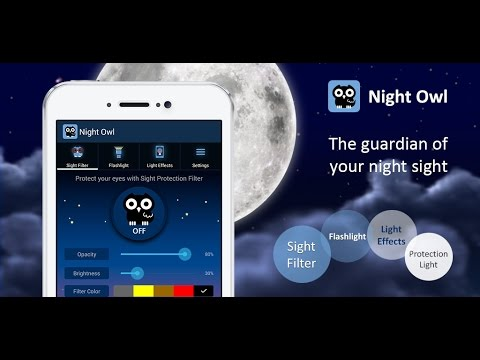 Night Owl - Bluelight Filter, flashlight, Light Effects