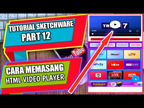 Tutorial Sketchware part 12, Cara memasang HTML video player di aplikasi thumbnail
