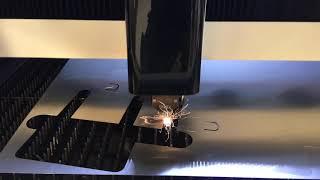 Laser cutting Aluminum at ICD Waterjet & Laser
