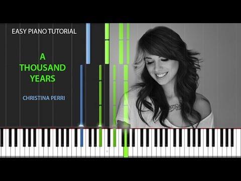 A THOUSAND YEARS  Christina Perri  Easy Piano Tutorial  Intro