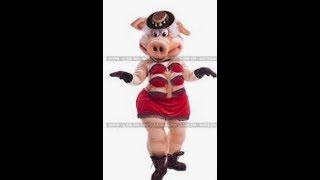 Dancing pig at corporate party...