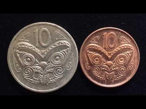 New Zealand 10 Cent Maori Mask Reverse Coins 1980 2006