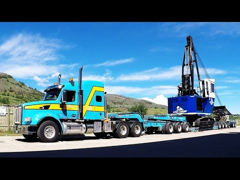 HEAVY HAUL PETERBILT 567 W/ 11-AXLE LOWBED LOADING 2016 LOG CHAMP LC550 YARDER [31 Minutes]