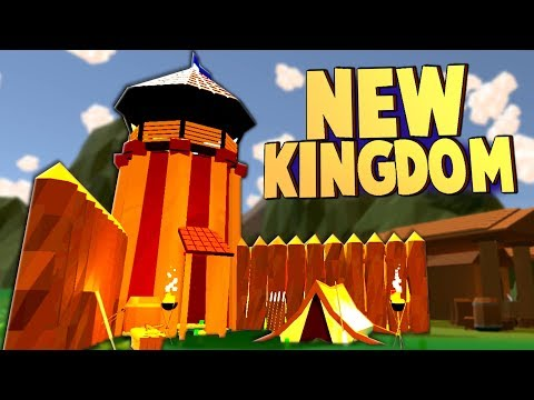 Building a NEW KINGDOM and Castle, Battling the Trolls! (No King No Kingdom Alpha Gameplay Part 1)