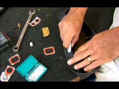 How to Repair a Bicycle Tire : Installing a Bicycle Tire Patch, Step Two