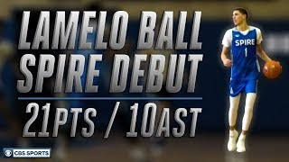 LaMelo Ball Double-Doubles in Return to High School Basketball | CBS Sports
