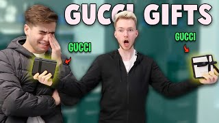 SURPRISING MY ROOMMATES WITH GUCCI GIFTS!! emotional FT. Reaction Time &amp Adi