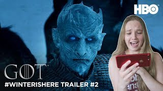 Game of Thrones Season 7: #WinterIsHere Trailer #2 (HBO) REACTION