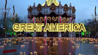[4k]  Holiday in the Park  //  Six Flags Great America // Walkthrough Cinematic