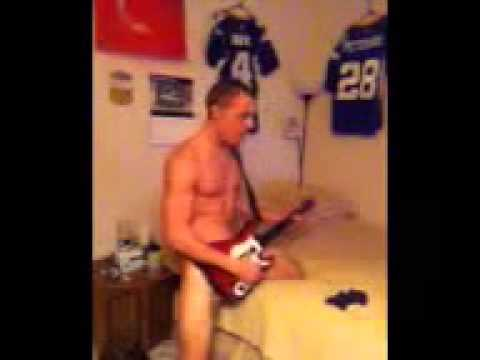 Nude with guitar hero