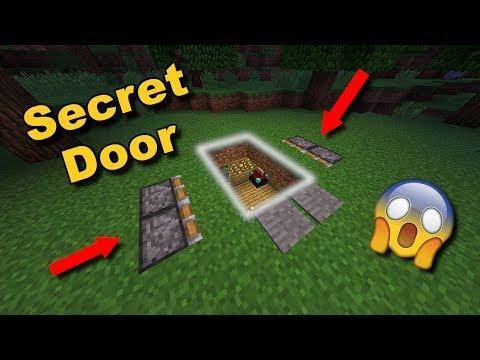 (EASY) Secret Underground Piston Door (THE GROUND OPENS UP!!!) - Minecraft Tutorial