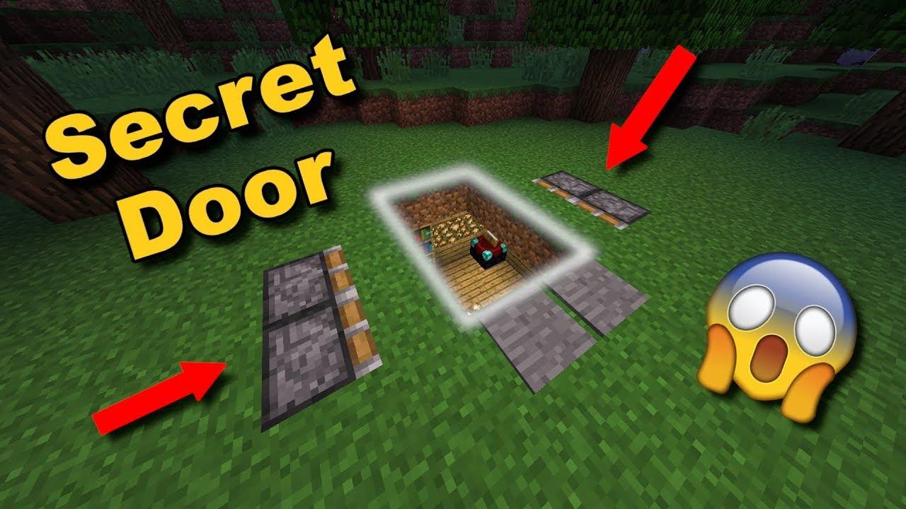 Easy Secret Underground Piston Door The Ground Opens Up Minecraft Tutorial Youtube
