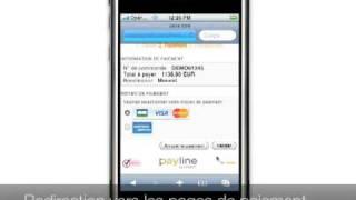 Paiement en ligne Payline sur iPhone