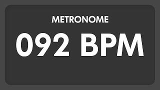 Video 92 BPM - Metronome download MP3, 3GP, MP4, WEBM, AVI, FLV Mei 2018