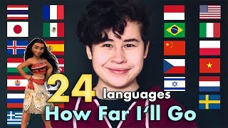 1 DISNEY Song 24 LANGUAGES | Moana - How Far I'll Go | Cody Ruf