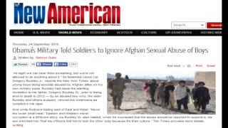 Obama's Military Told Soldiers to Ignore Afghan Sexual Abuse of Boys