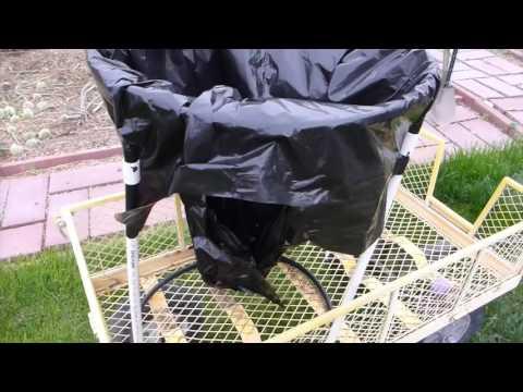 PVC Pipe Yard Bag Stand