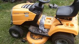 Сосед подарил мини Трактор. Stiga estate grand tornado.