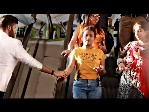 Touching Strangers Hands On The Escalator | Prank In India |