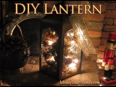 Christmas Lantern DIY/ Christmas Lantern Ideas/ Holiday Lantern Decoration/ Fireplace Hearth Decor