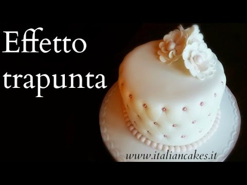 Torta Effetto Trapunta Tutorial.Cake Design Torte Decorate Effetto Trapuntato Quilted Effect Cake