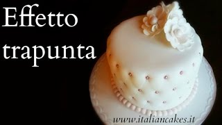 CAKE DESIGN - torta in pdz effetto trapunta [Quilted cake]
