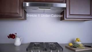 Hotte de cuisinière sous l'armoire Breeze II de Zephyr AK1200B