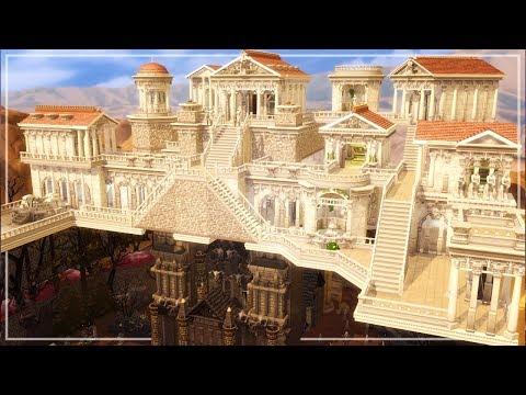 LOS SIMS 4 SPEED BUILD | OLYMPUS & UNDERWORLD | OPPOSITE HOUSE CHALLENGE