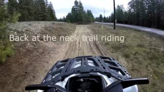 2015 Can Am 650 XT Trail riding back neck of the woods 2