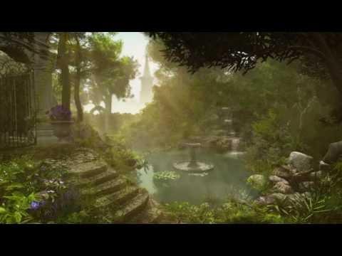 Waterfall Sounds - Garden Pond, Bird Life | 2 hours