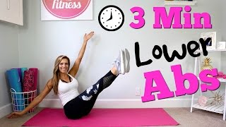 3 Minute LOWER ABS Workout!