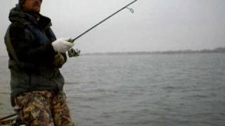 Winter Fishing on Coffey County Lake