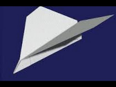 Tuto comment faire un avion en papier qui vole bien youtube - Tuto avion en papier ...