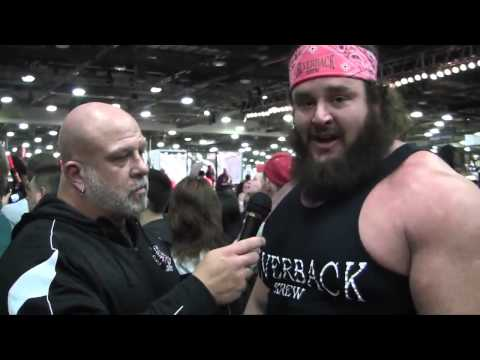 Bryan Hildebrand Interviews Pro Strongman Adam Scherr at the 2013 Arnold Sports Festival