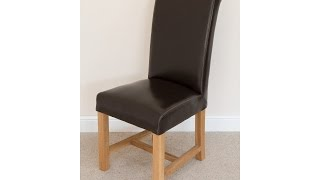 Titan Dark Brown Scroll Back Dining Chair