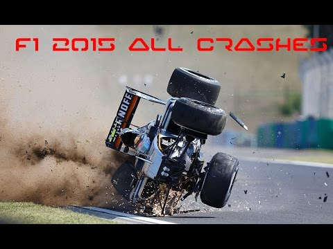 F1 2015 All Crashes Compilation