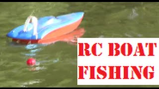 RC Boat Fishing for Catfish, Bluegill, and other Bait Fish
