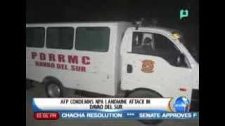 NewsLife: AFP condemns NPA landmine attack in Davao del Sur || March 3, 2014