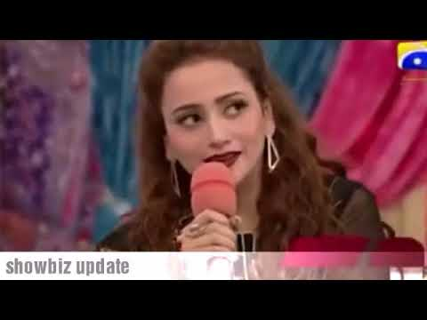 Zarnish khan singing New song on Eid Special show Geo