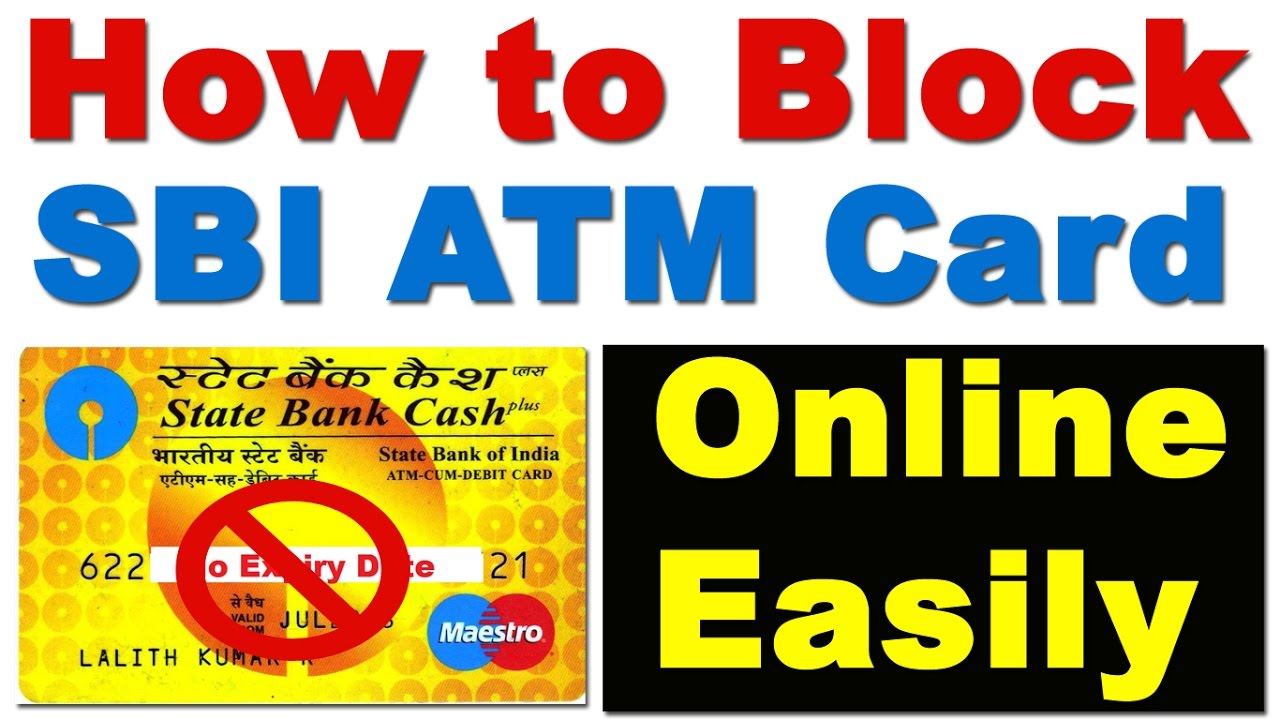 how to block sbi atm card without online banking