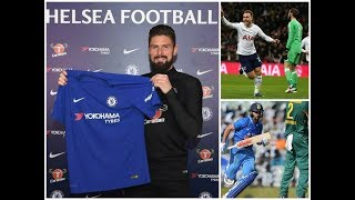 Gambar cover GIROUD WILL WEAR NUMBER 18 SHIRT!! SPURS WIN AGAINST MAN U!! INDIA VS SOUTH AFRICA !!ALL NEWS .!!