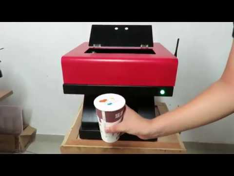 CMYK colorful Automatic cappuccino latte coffee printer machine with WIFI function