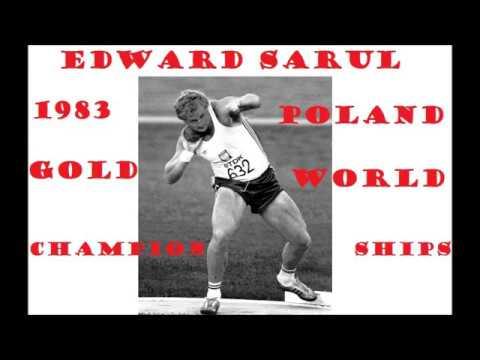 Edward SARUL (21,39 meters) - Shot Put Gold at 1983 World Athletics