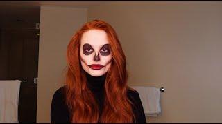 Following the audio of a Halloween makeup tutorial | Madelaine Petsch