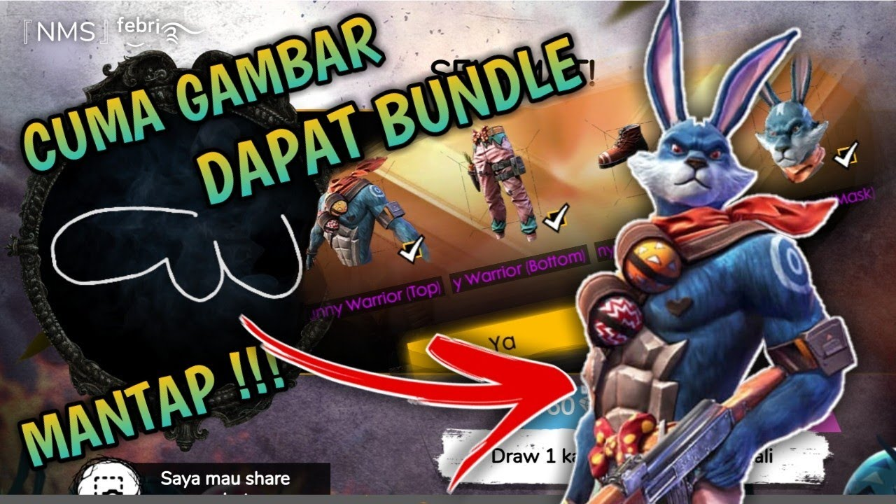 Event Gambar Bunny Free Fire Wow Cuma Gambar Seperti Ini Bisa Dapat Bundle Bunny Warrior Dan Bunny Queen Event Free Fire Indo Youtube
